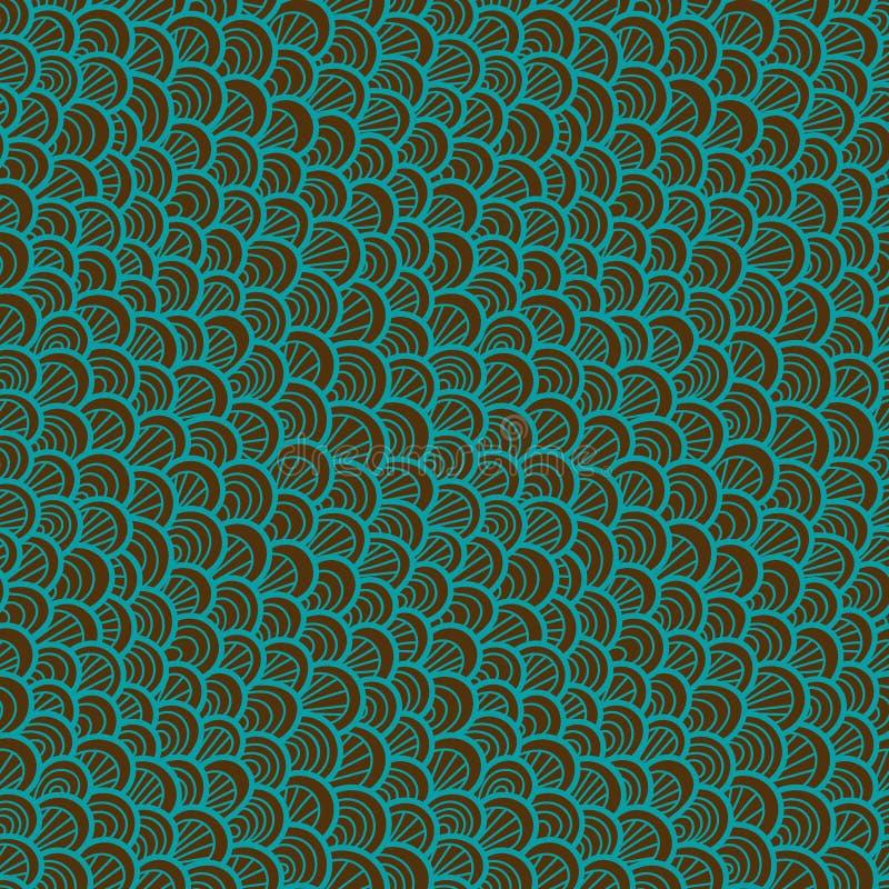 Teste padrão sem emenda abstrato Escala tirada mão Ornamento gráfico Textura da pele do réptil ilustração royalty free