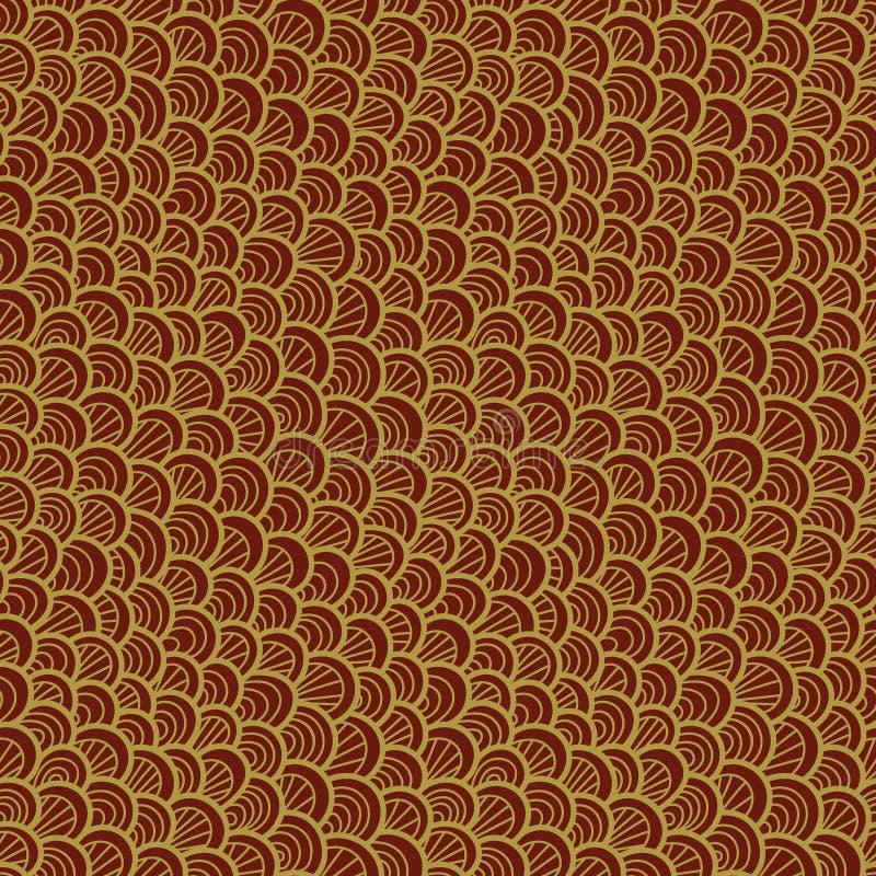 Teste padrão sem emenda abstrato Escala tirada mão Ornamento gráfico Textura da pele do réptil ilustração stock