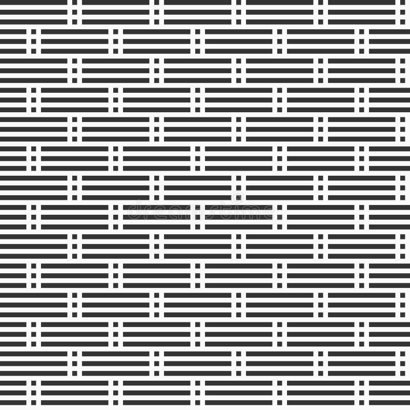 Teste padrão sem emenda abstrato Estrutura das listras Linhas pontilhadas horizontais regularmente repetidas ilustração royalty free