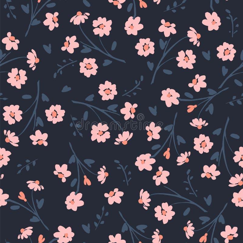 Teste padrão sem emenda abstrato floral Projeto do vetor para surfases diferentes ilustração stock