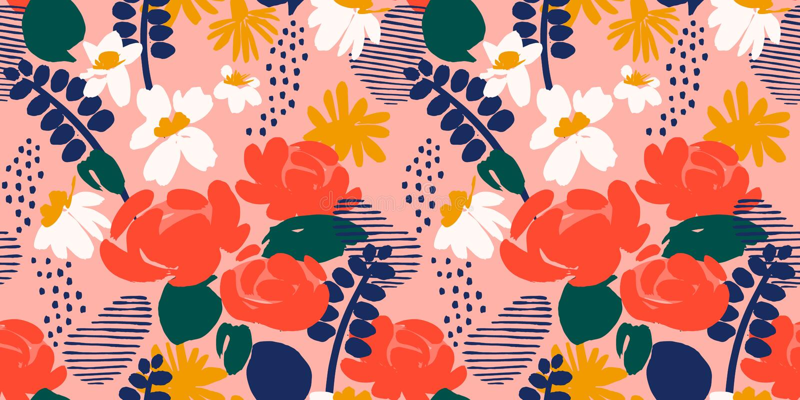 Teste padrão sem emenda abstrato floral Projeto do vetor para surfases diferentes ilustração do vetor