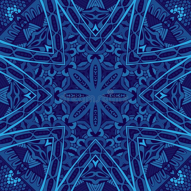 Teste padrão sem emenda abstrato geométrico azul ilustração stock
