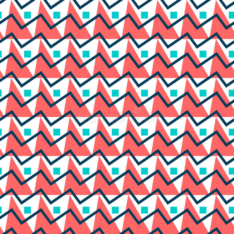 Teste padrão sem emenda abstrato geométrico Fundo simples dos triângulos ilustração royalty free