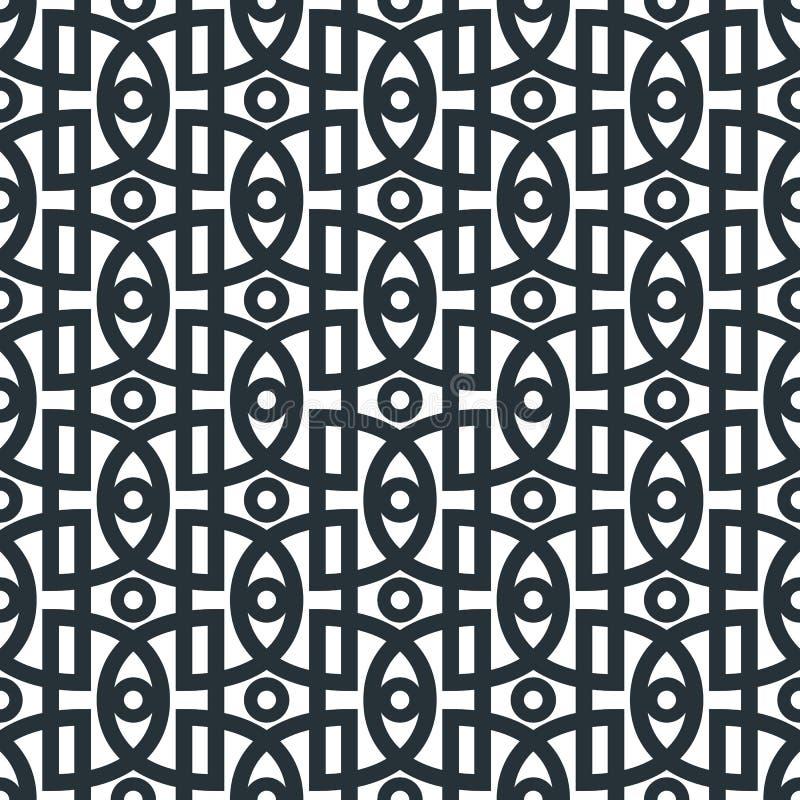 Teste padrão sem emenda abstrato geométrico Linha simples linear backgrou ilustração royalty free