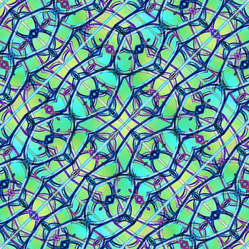 Teste padrão sem emenda abstrato geométrico moderno ilustração stock