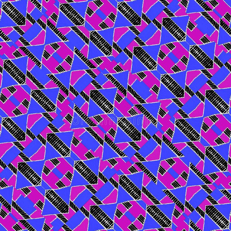Teste padrão sem emenda abstrato geométrico moderno vibrante ilustração royalty free