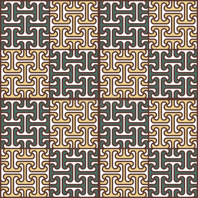 Teste padrão sem emenda abstrato no estilo egípcio imagens de stock