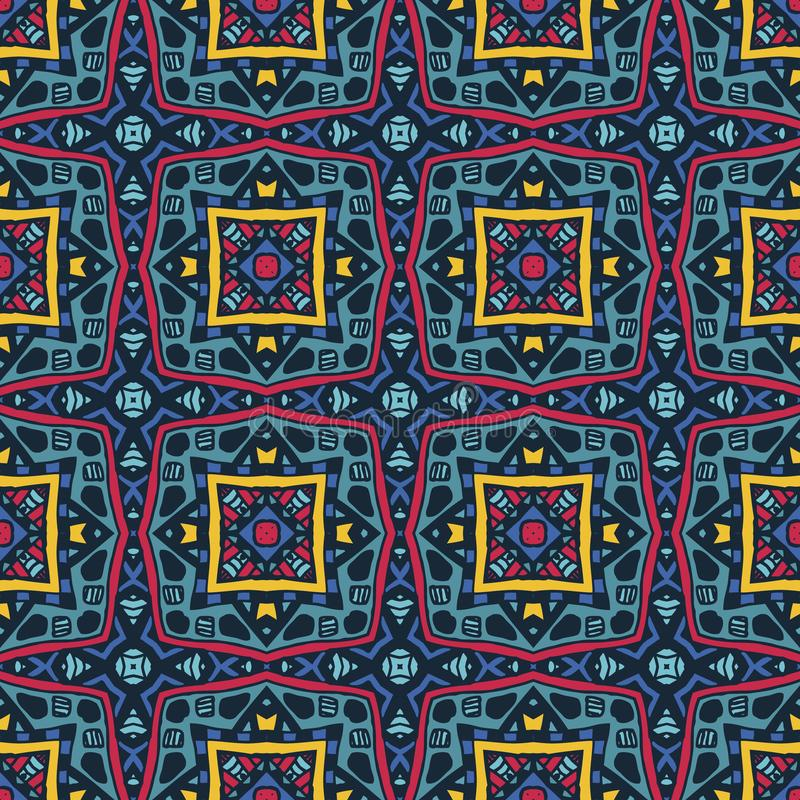 Teste padrão sem emenda abstrato Papel de parede escuro urbano Textured do grunge com linha geométrica, quadrados, elementos da f ilustração royalty free