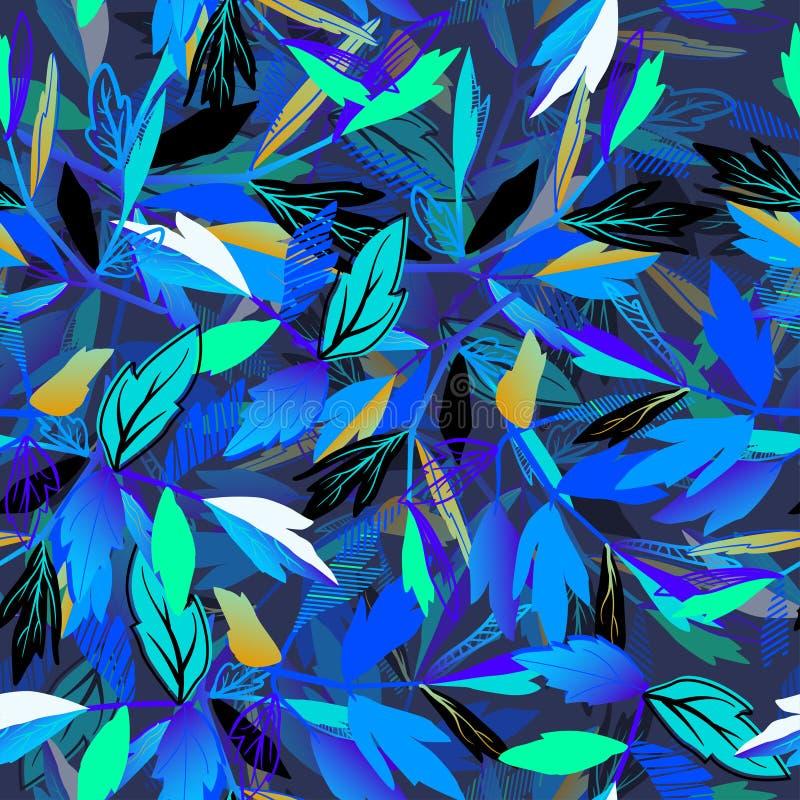 Teste padrão sem emenda abstrato para meninas, meninos, roupa Fundo criativo com folhas Papel de parede engraçado para a matéria  ilustração do vetor