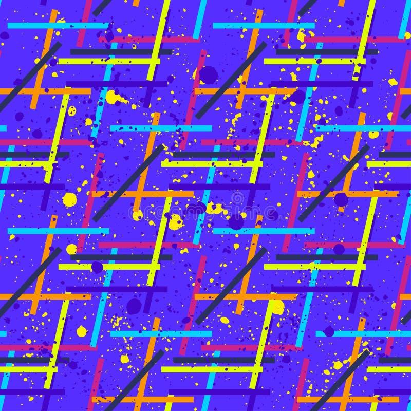 Teste padrão sem emenda abstrato para meninas, meninos, roupa Fundo criativo com pontos, figuras geométricas papel de parede engr ilustração royalty free