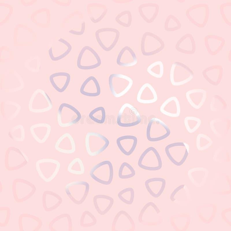 Teste padrão sem emenda abstrato para meninas Papel de parede na moda moderno ilustração stock
