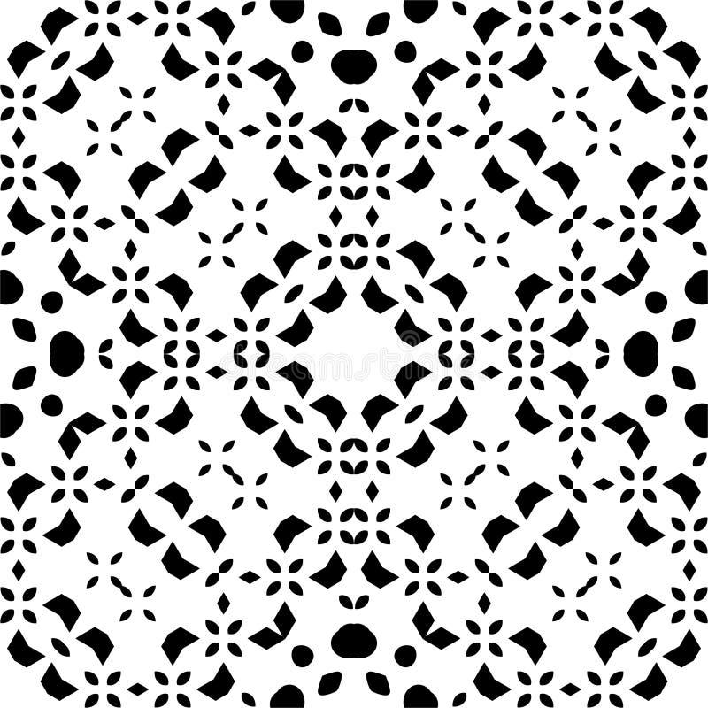 Teste padrão sem emenda ABSTRATO preto no fundo branco ilustração do vetor