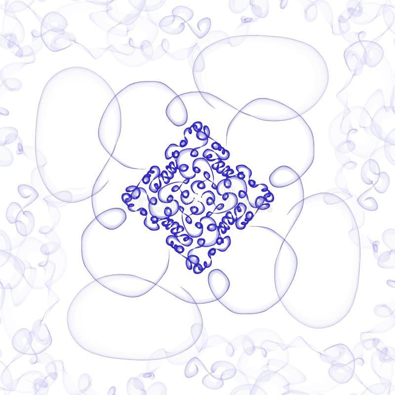 Teste padrão sem emenda abstrato, vetor, azul, oriental ilustração royalty free