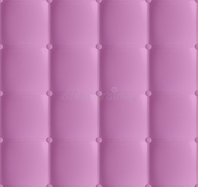 Teste padrão sem emenda acolchoado de couro da cabeceira do rosa, fundo de couro macio luxuoso Cabeceira branca, cama Textura do  foto de stock royalty free