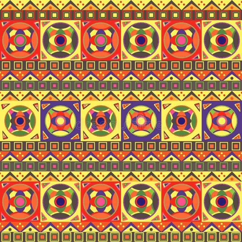 Teste padrão sem emenda africano ilustração stock