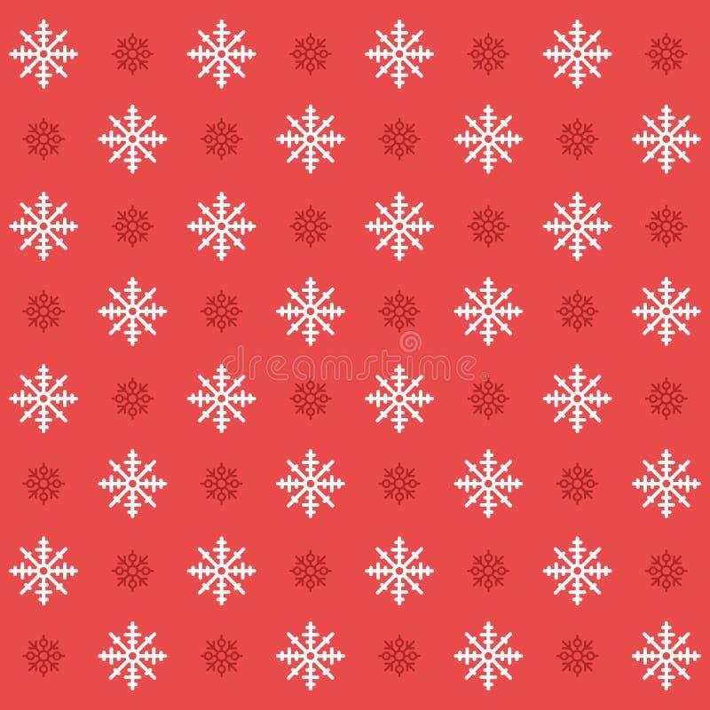 Teste padrão sem emenda ajustado do floco de neve do ícone do Natal Fundo liso do vetor dos ícones do Natal ilustração stock