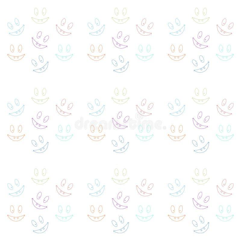 Teste padrão sem emenda alegre com riso de smiley toothy ilustração royalty free