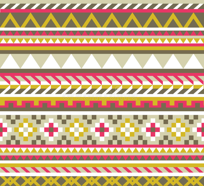 Teste padrão sem emenda asteca étnico ilustração stock