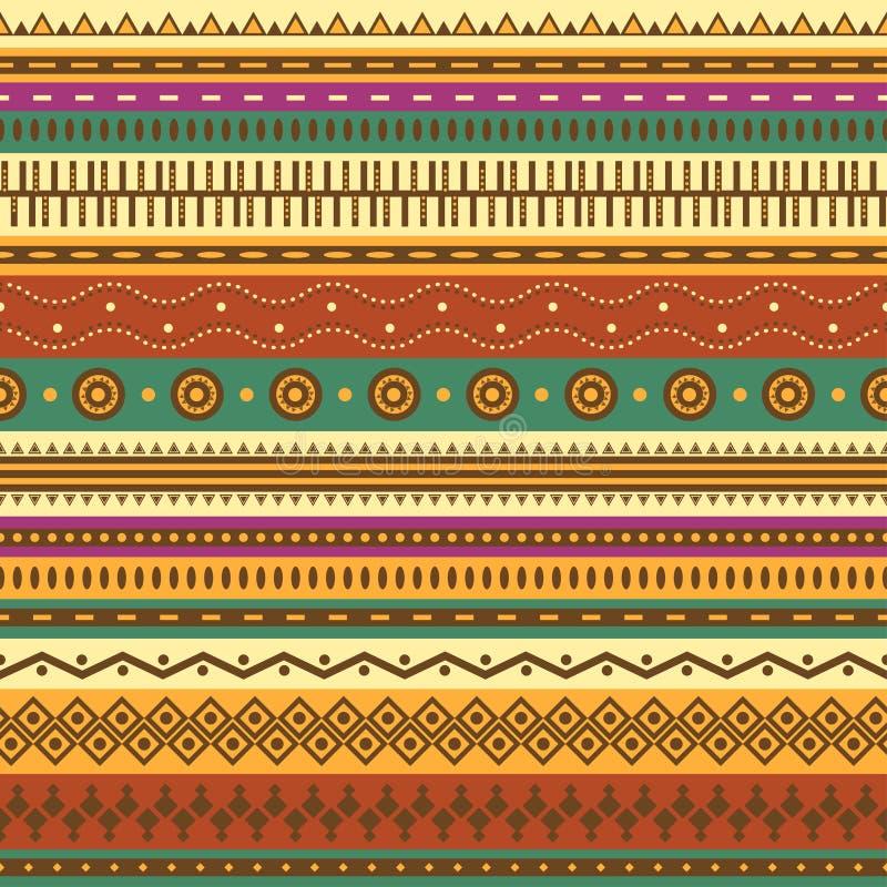 Teste padrão sem emenda asteca. ilustração royalty free