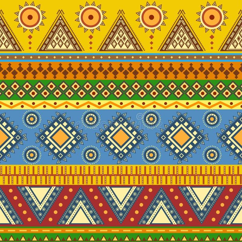 Teste padrão sem emenda asteca. ilustração do vetor