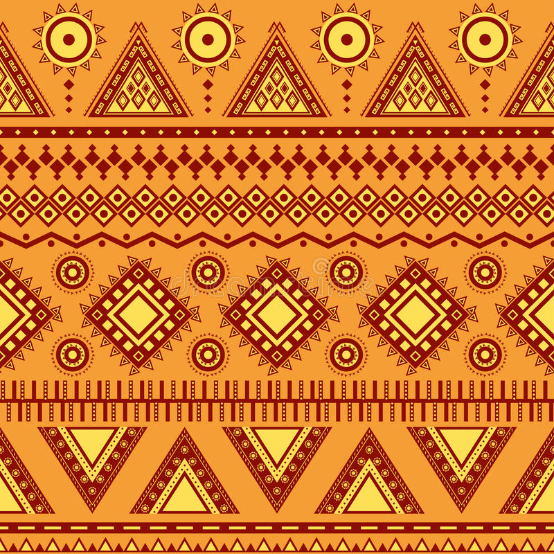 Teste padrão sem emenda asteca. ilustração stock