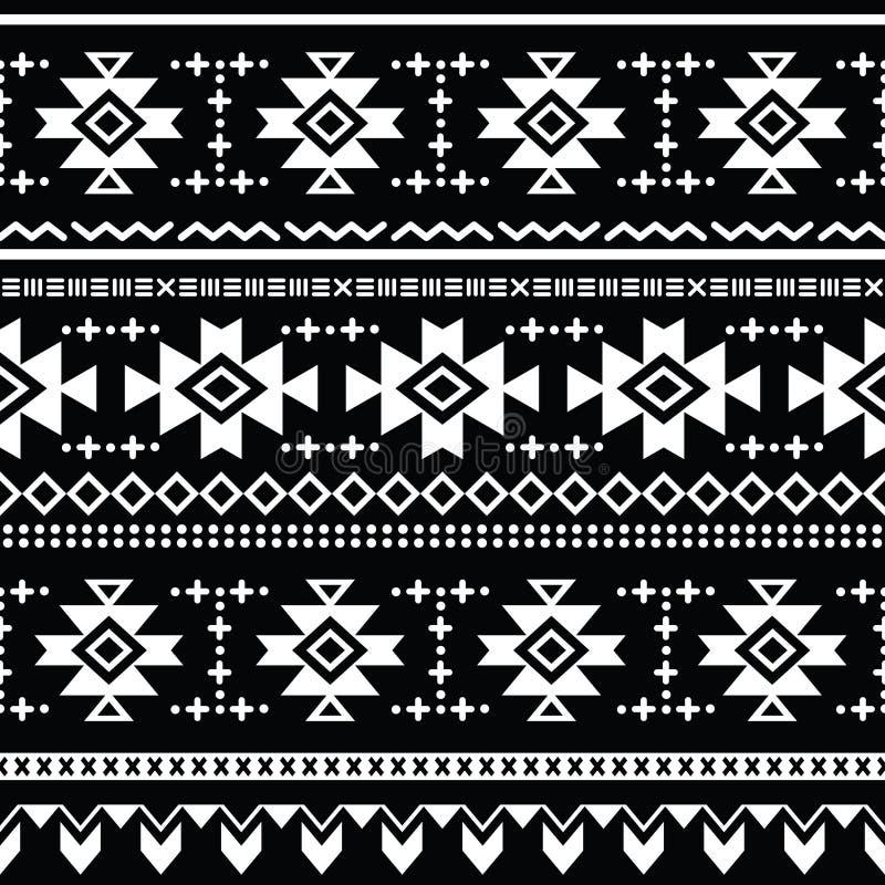 Teste padrão sem emenda asteca tribal, cópia ilustração do vetor