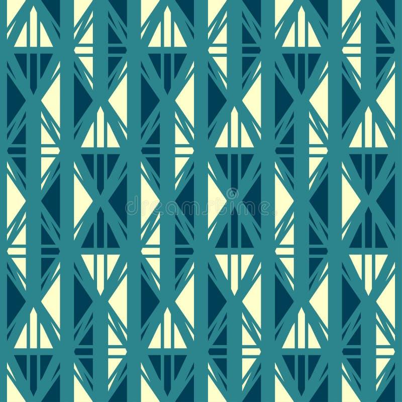 Teste padrão sem emenda azul antigo ilustração do vetor
