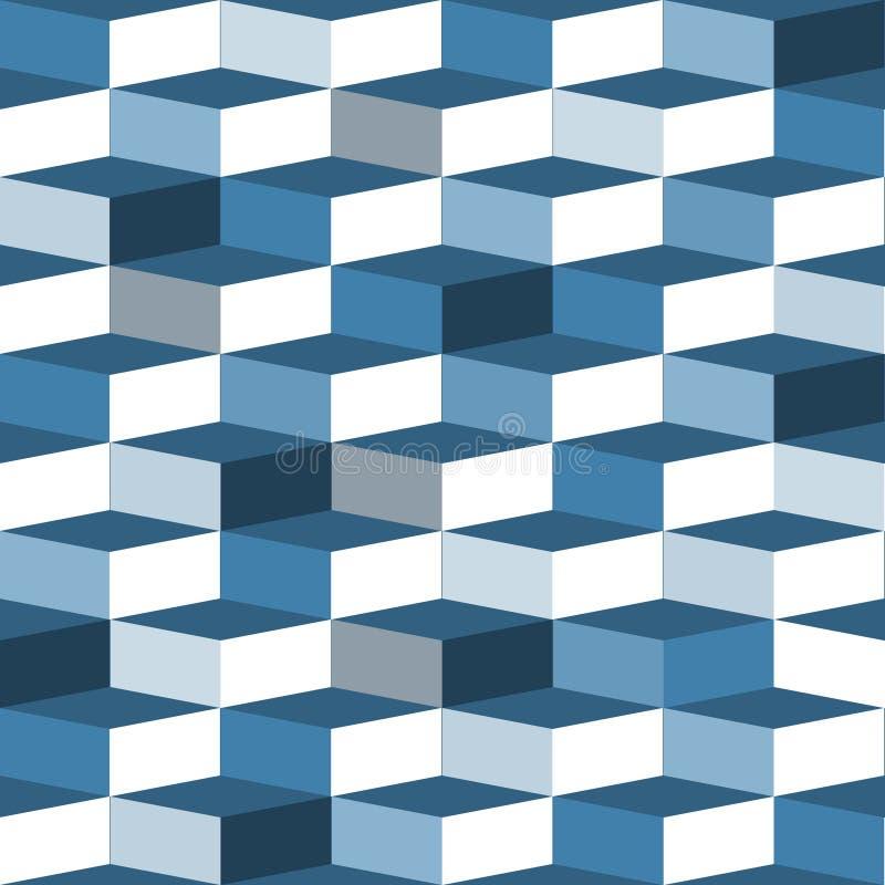 Teste padrão sem emenda azul da caixa ilustração royalty free