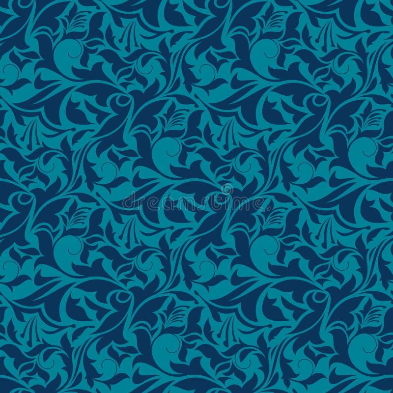 Teste padrão sem emenda azul do papel de parede ilustração do vetor