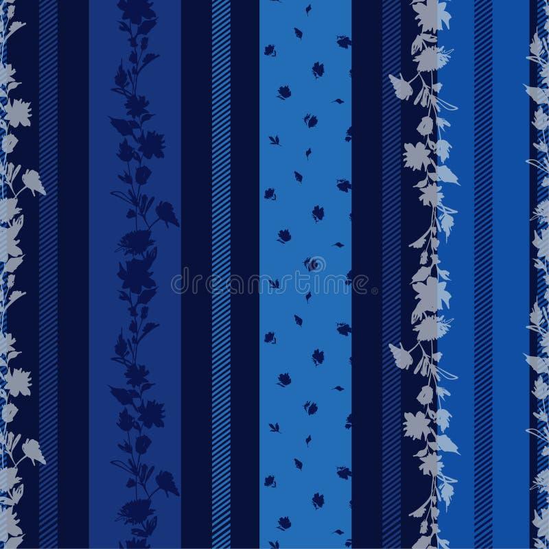 Papel De Parede Floral Azul Ilustracao Stock Ilustracao De