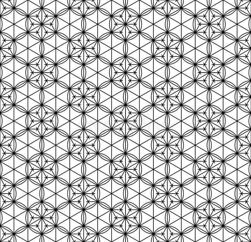 Teste padrão sem emenda baseado no ornamento geométrico japonês Rebecca 36 ilustração royalty free