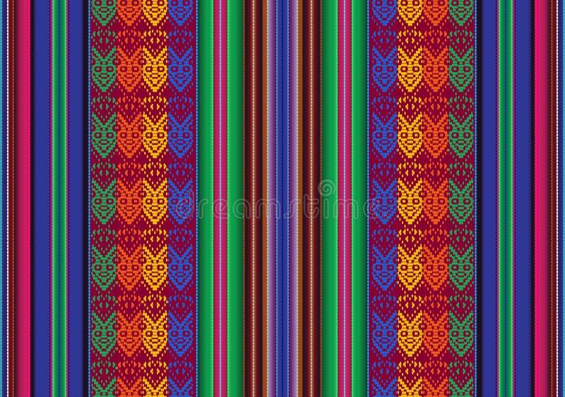 Teste padrão sem emenda boliviano ilustração stock
