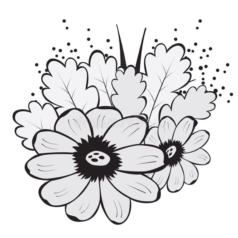 Teste padrão sem emenda bonito abstrato com flor ilustração stock