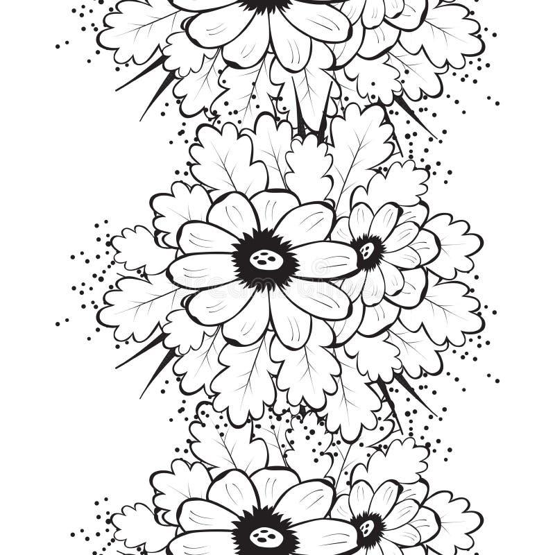 Teste padrão sem emenda bonito abstrato com flor ilustração do vetor