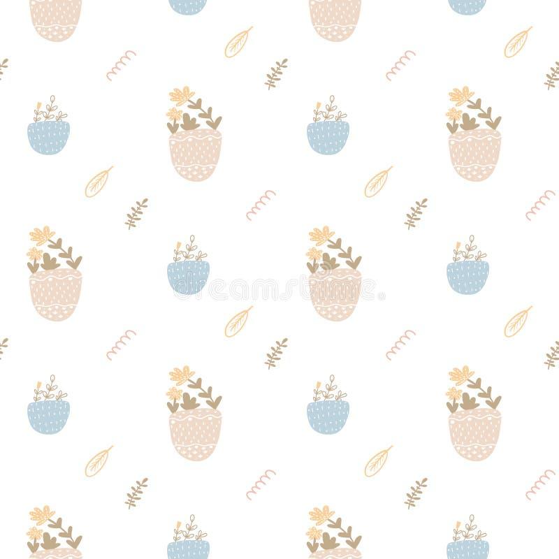 Teste padrão sem emenda bonito com flores da mola A ilustração brilhante, pode ser usada para o papel de envolvimento, cartão do  ilustração do vetor