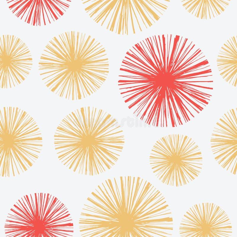 Teste padrão sem emenda brilhante com o floral tirado mão ilustração stock