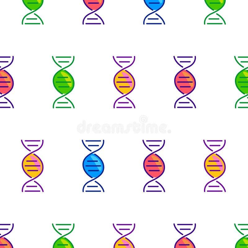 Teste padrão sem emenda brilhante dos doces do ADN fotos de stock royalty free
