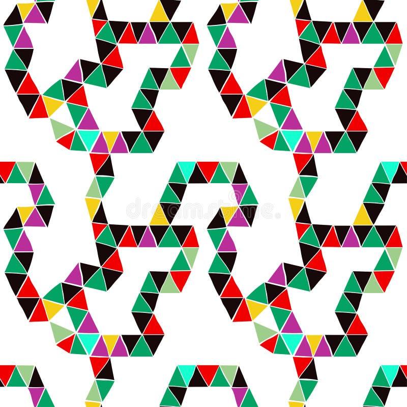 Teste padrão sem emenda brilhante dos módulos triangulares, desenhista tirado bonito, ilustração stock