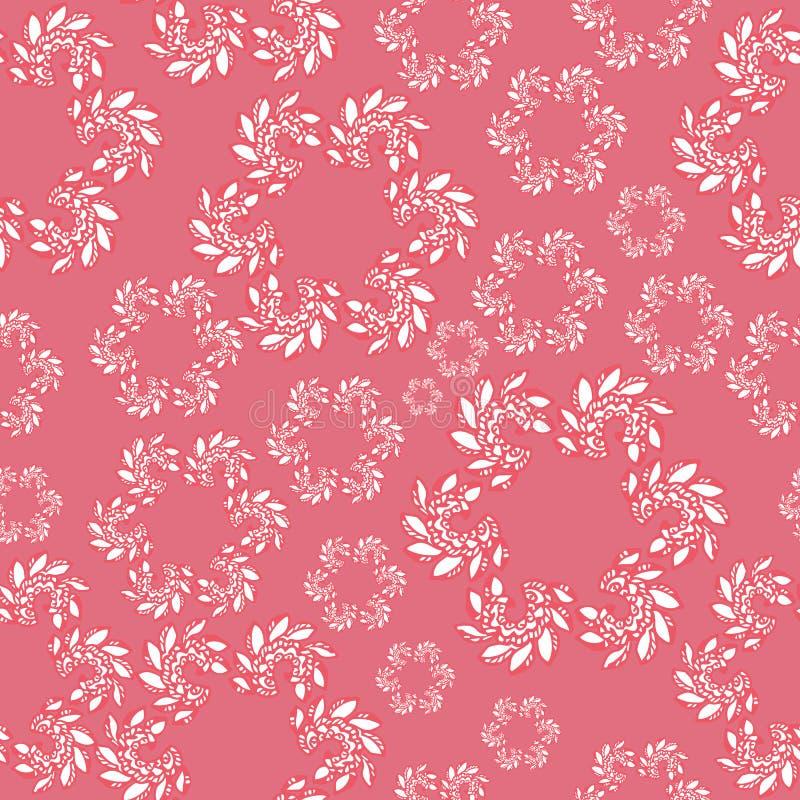 Teste padrão sem emenda brilhante no estilo de paisley Teste padrão abstrato contexto repetido de menina bonito ilustração do vetor
