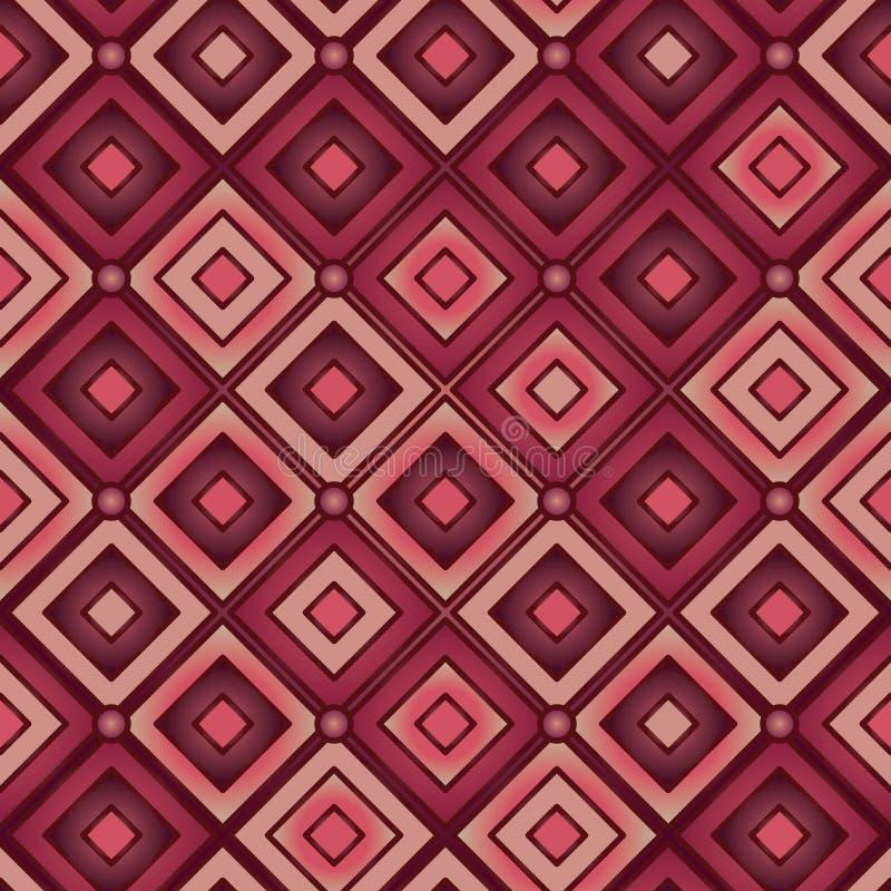 Teste padrão sem emenda brilhante vermelho do coxim ilustração do vetor