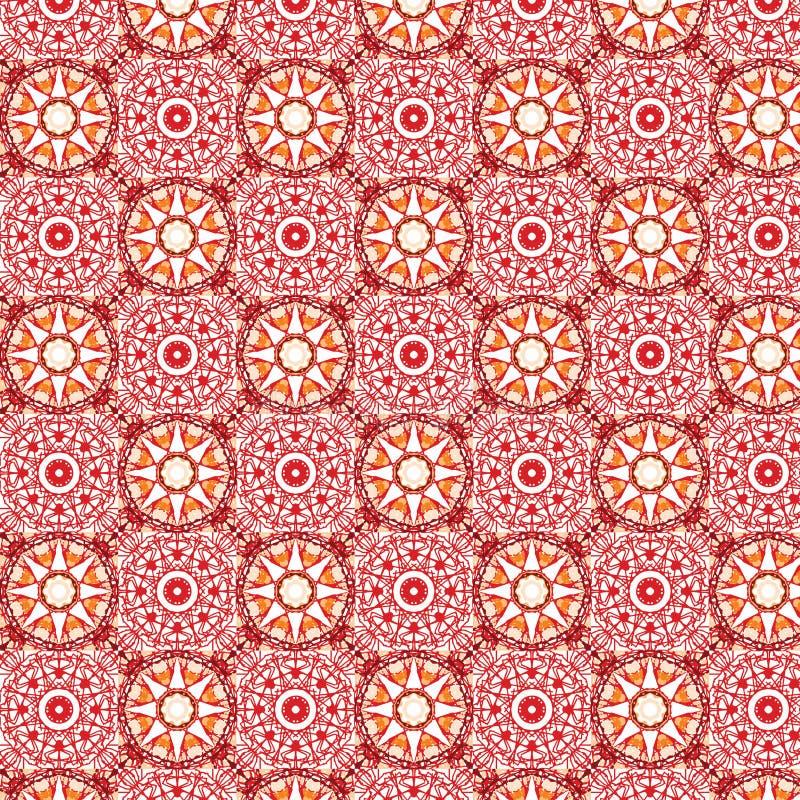 Teste padrão sem emenda calidoscópico impressionante ilustração stock