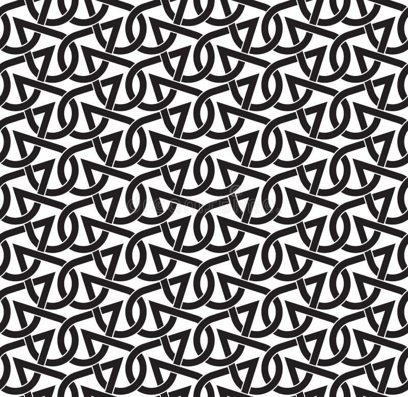 Teste padrão sem emenda celta de gotas de cruzamento ilustração stock