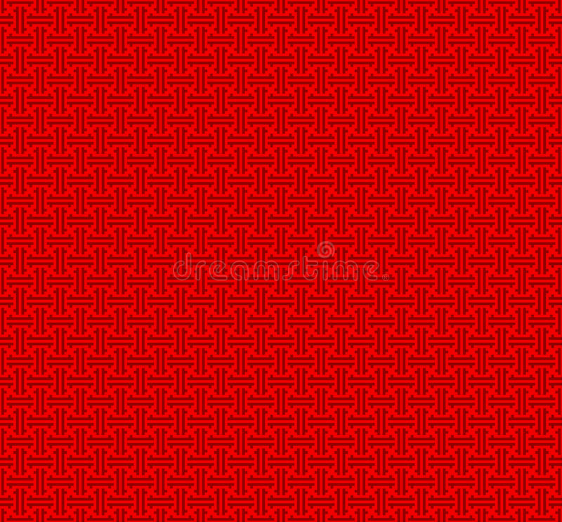 Teste padrão sem emenda chinês ilustração royalty free