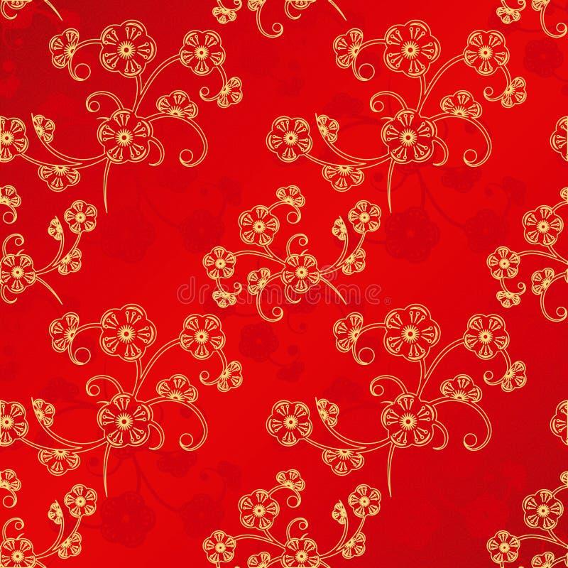 Teste padrão sem emenda chinês oriental do ano novo ilustração do vetor