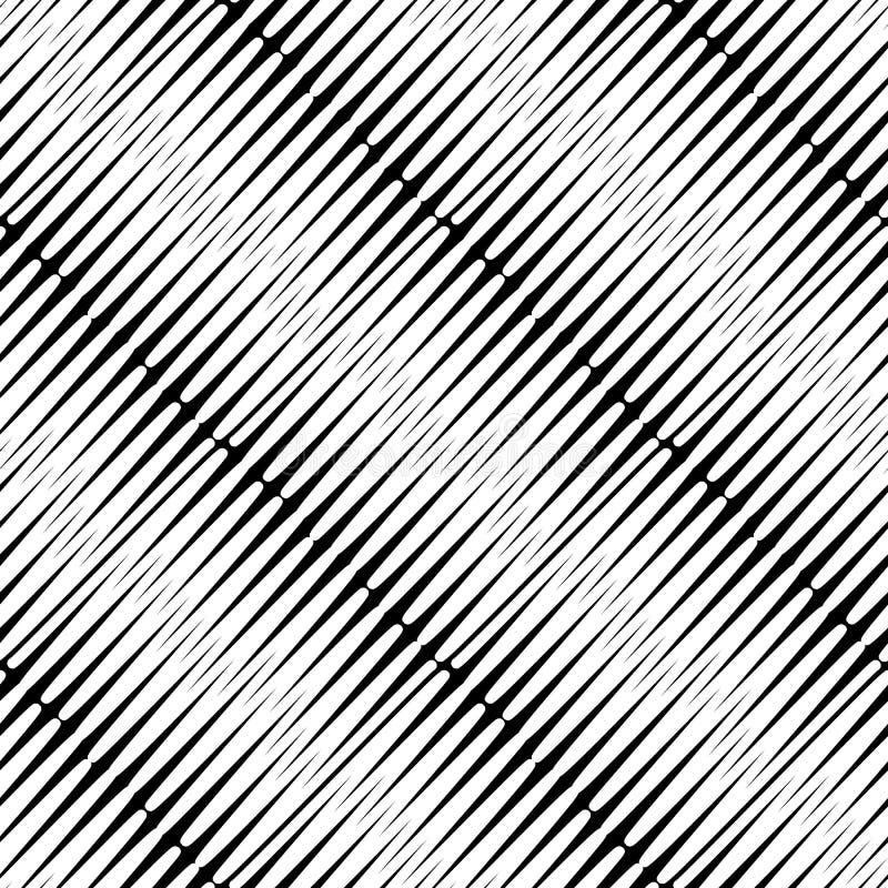 Teste padrão sem emenda chocado Fundo preto e branco do choque do vetor Contexto listrado abstrato moderno Projeto geométrico da  ilustração royalty free