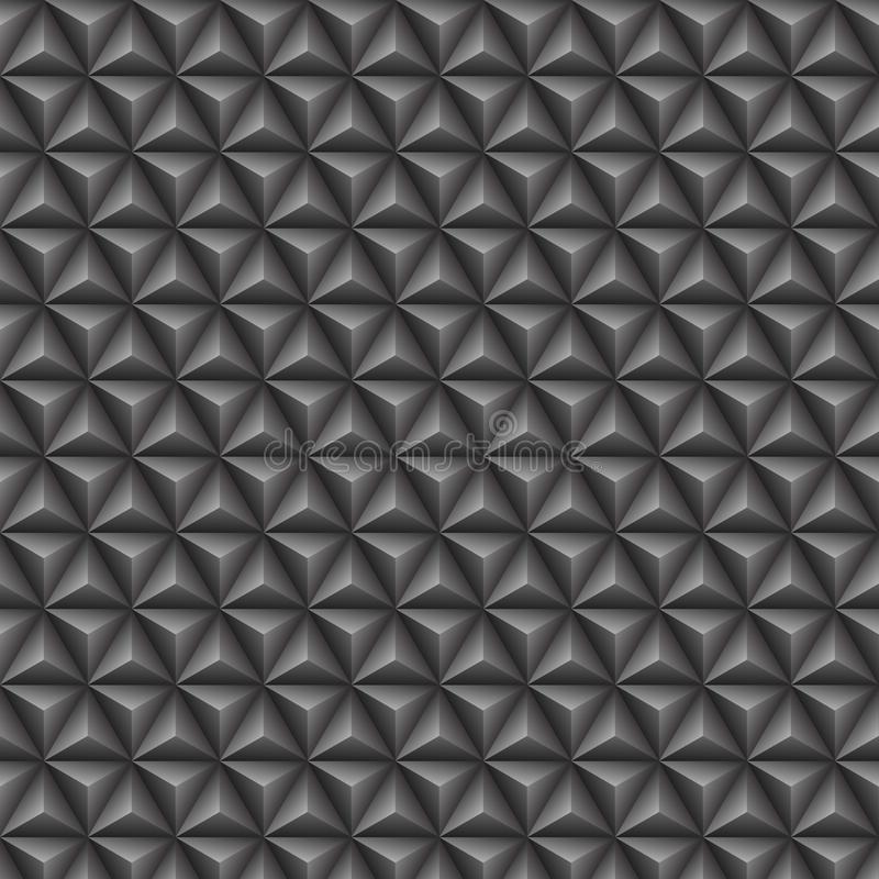 Teste padrão sem emenda cinzento do triângulo 3d ilustração do vetor