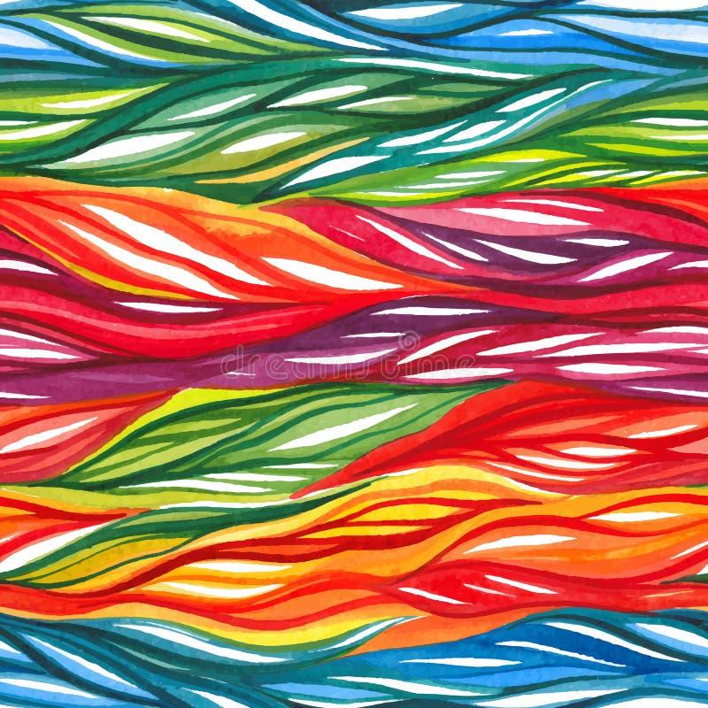 Teste padrão sem emenda colorido abstrato da aquarela ilustração do vetor