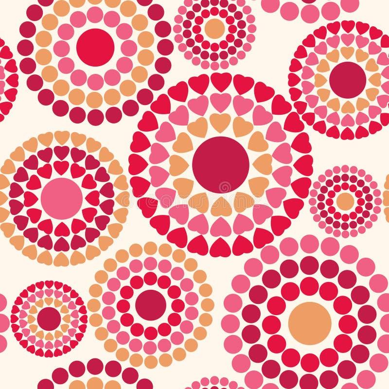Teste padrão sem emenda colorido com corações, o dia de Valentim feliz ilustração stock