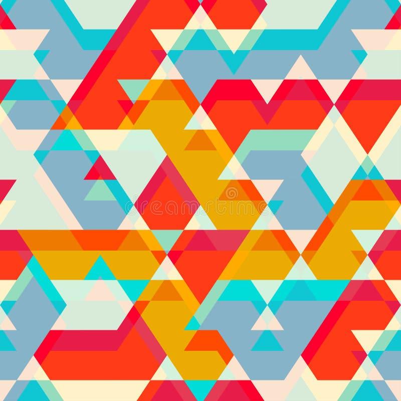 Teste padrão sem emenda colorido da estrela ilustração do vetor