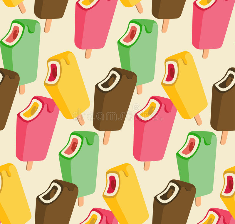 Teste padrão sem emenda colorido da música do gelado ilustração do vetor